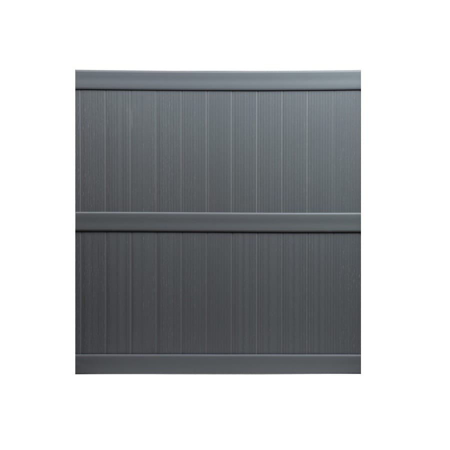 Shop keter springfield 6 ft x 6 ft grey flat top privacy vinyl fence panel at - Vinyl railing reviews ...