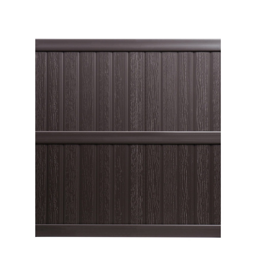 Keter Springfield 6-ft x 6-ft Brown Flat-Top Privacy Vinyl Fence Panel