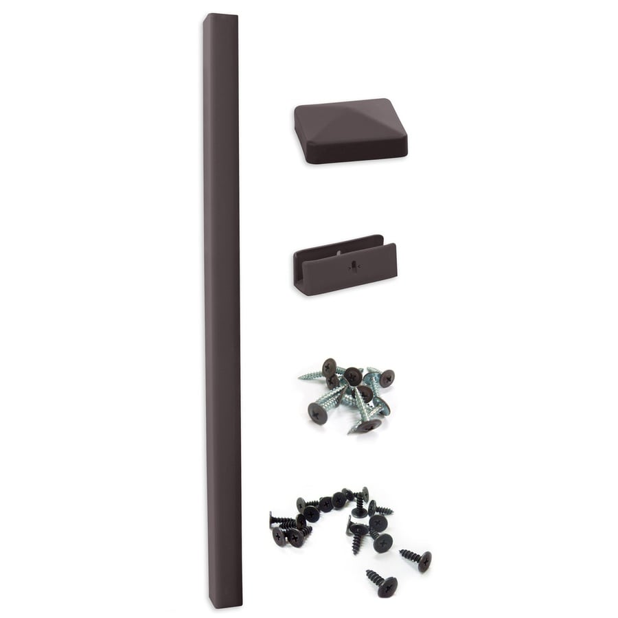 Keter Brown Vinyl Fence Post (Common: 96-in; Actual: 96-in)