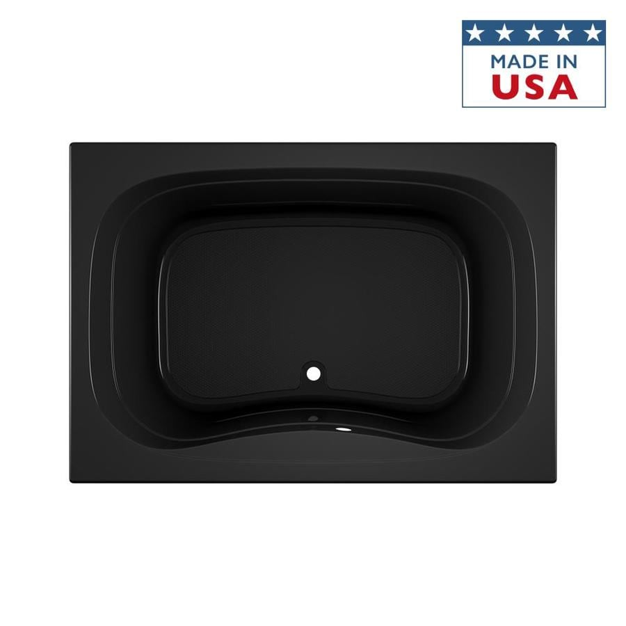 Jacuzzi Signa 60-in Black Acrylic Bathtub with Center Drain