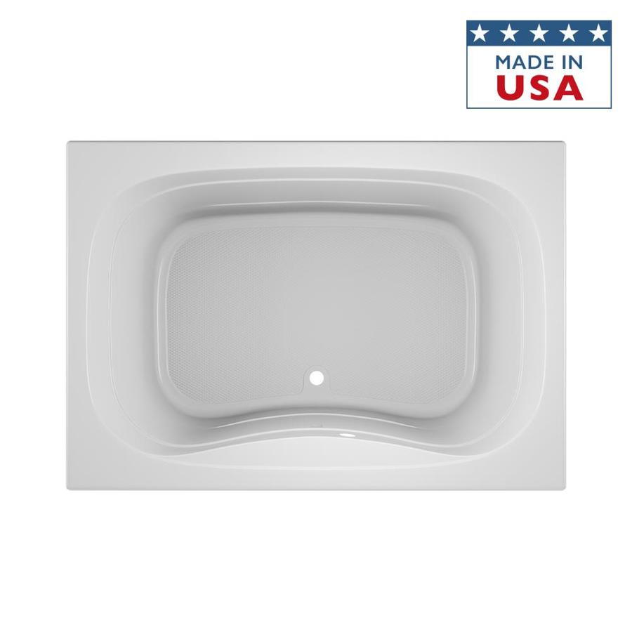 Shop Jacuzzi Signa 60 In White Acrylic Bathtub With Center Drain At