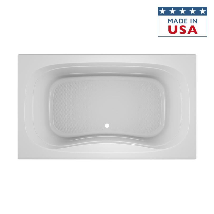 Shop Jacuzzi Signa 72 In White Acrylic Bathtub With Center Drain At