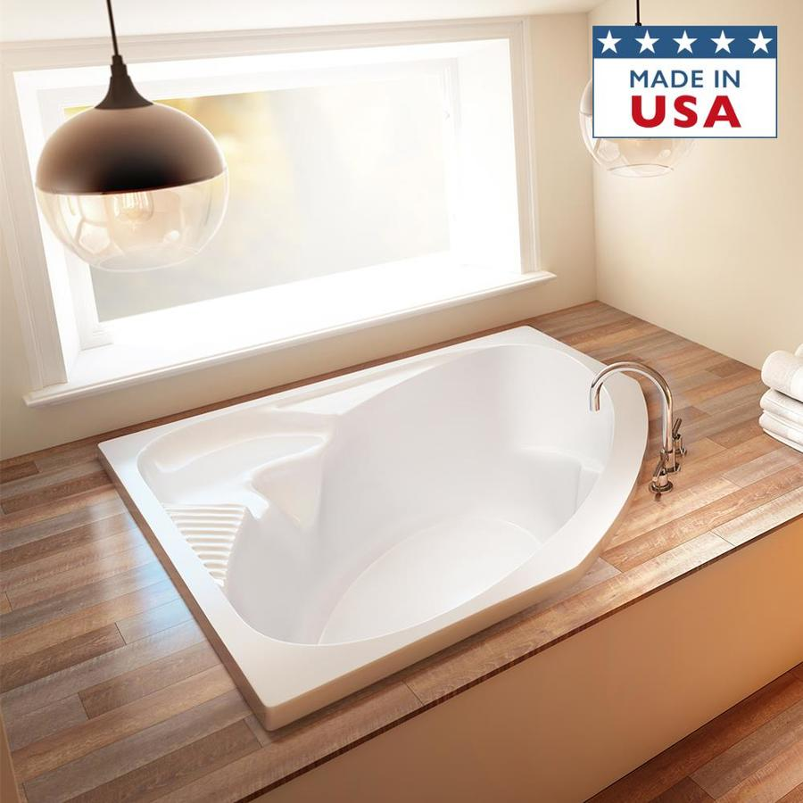 Jacuzzi Capella Acrylic Oval In Rectangle Drop-in Bathtub with Center Drain (Common: 55-in x 55-in; Actual: 20.25-in x 55-in x 55-in)