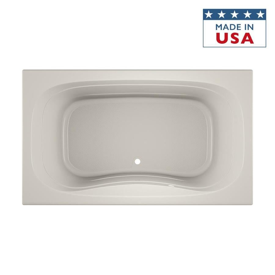 Jacuzzi Signa 72-in Oyster Acrylic Bathtub with Center Drain
