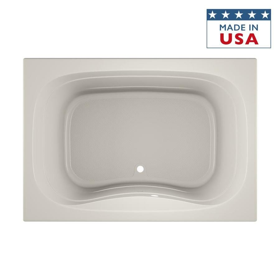 Jacuzzi Signa Acrylic Rectangular Drop-in Bathtub with Center Drain (Common: 42-in x 60-in; Actual: 22-in x 42-in x 60-in)