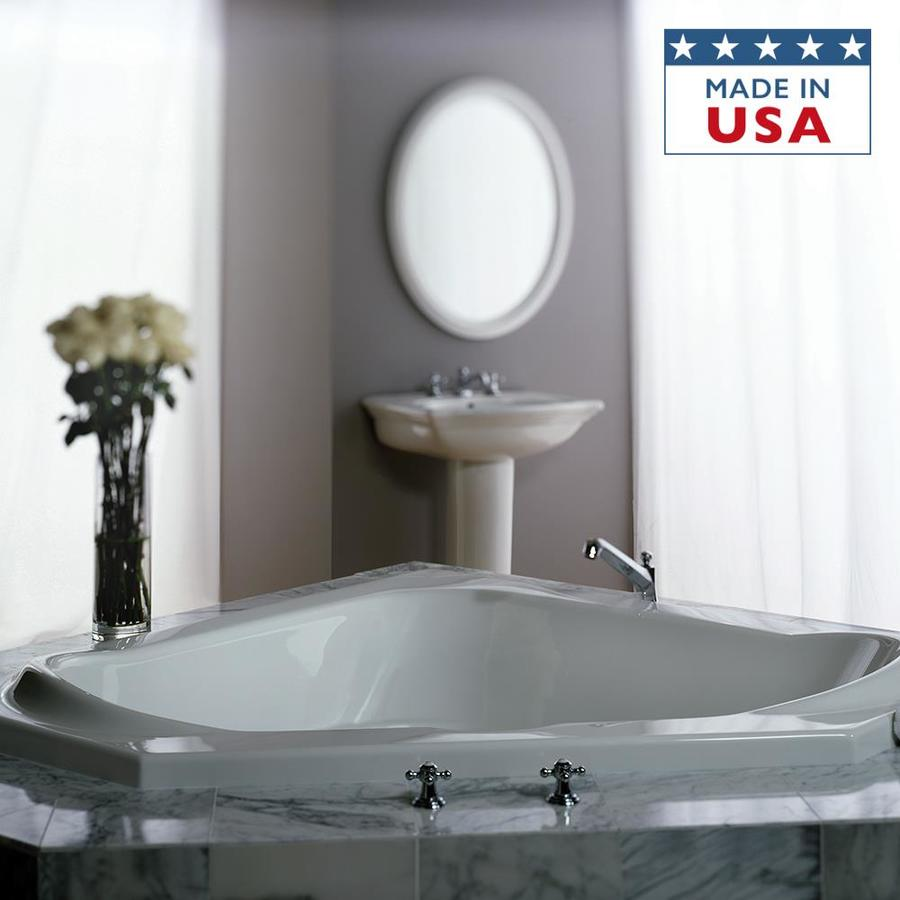 Jacuzzi Capella Acrylic Corner Drop-in Bathtub with Center Drain (Common: 60-in x 60-in; Actual: 20.5-in x 60-in x 60-in)