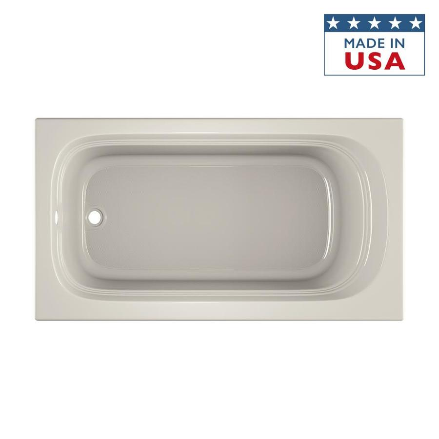 Jacuzzi Luxura Oyster Acrylic Oval In Rectangle Drop-in Bathtub with Reversible Drain (Common: 34-in x 66-in; Actual: 20-in x 34-in x 66-in)