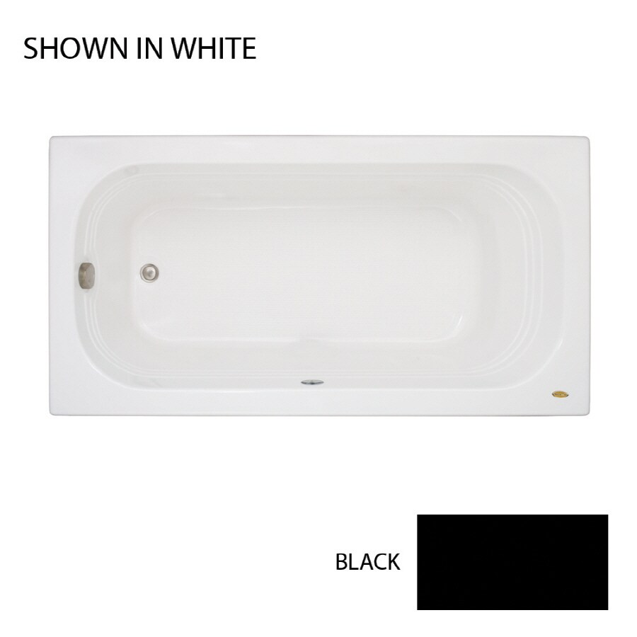 Jacuzzi Luxura 60-in Black Acrylic Drop-In Bathtub with Right-Hand Drain