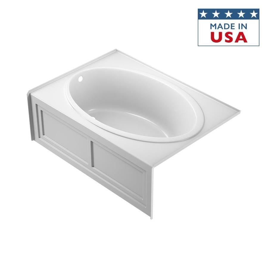 Jacuzzi Nova Acrylic Oval In Rectangle Skirted Bathtub with Left-Hand Drain (Common: 42-in x 60-in; Actual: 18.5-in x 42-in x 60-in)