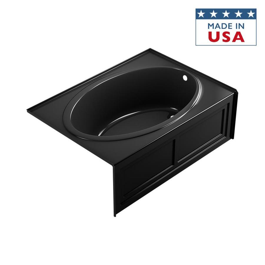 Jacuzzi Nova Acrylic Oval In Rectangle Skirted Bathtub with Right-Hand Drain (Common: 42-in x 60-in; Actual: 18.5-in x 42-in x 60-in)