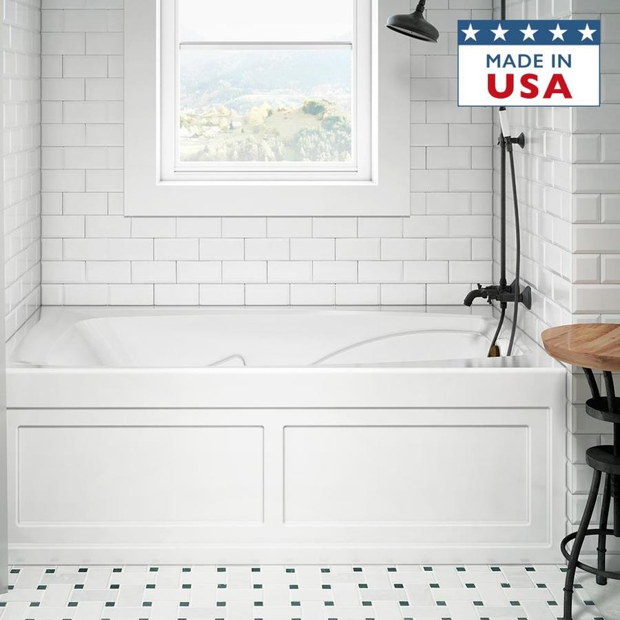 Jacuzzi Cetra 60-in White Acrylic Alcove Bathtub with Left-Hand Drain
