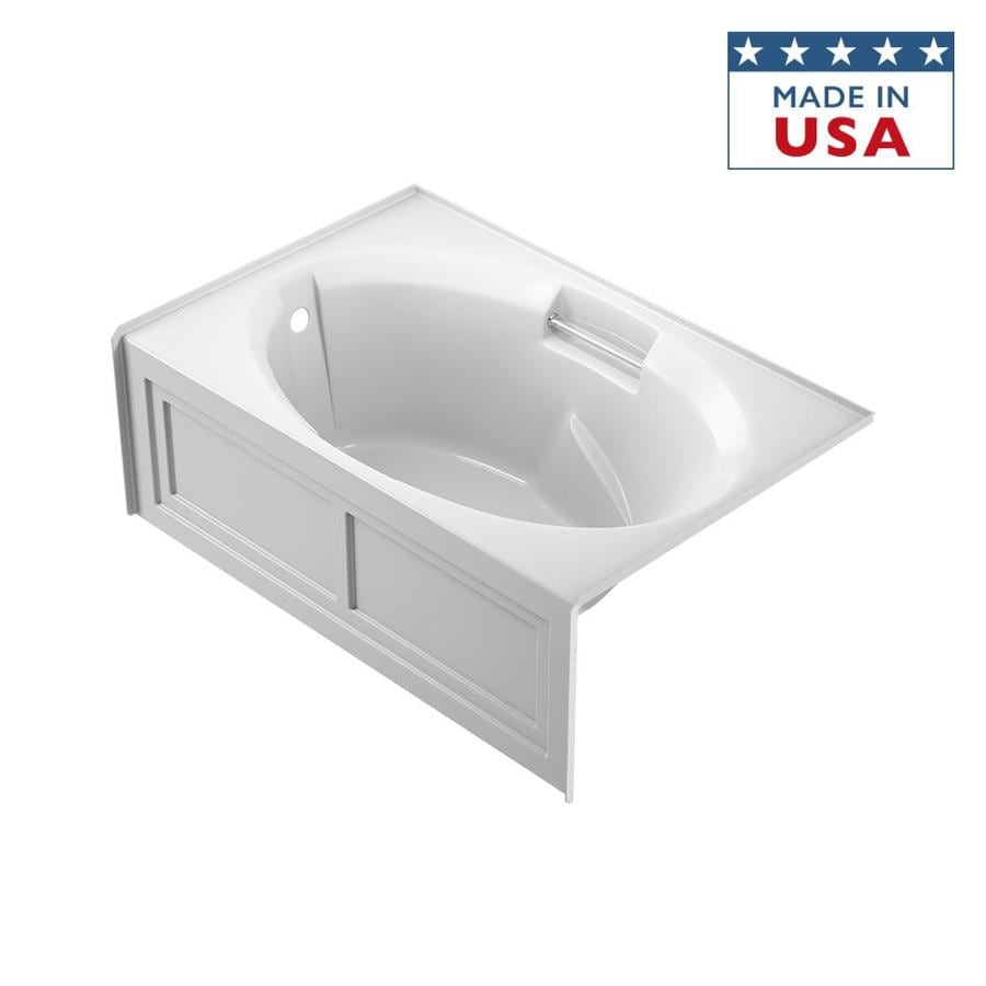 Jacuzzi Nova 60-in White Acrylic Alcove Bathtub with Left-Hand Drain