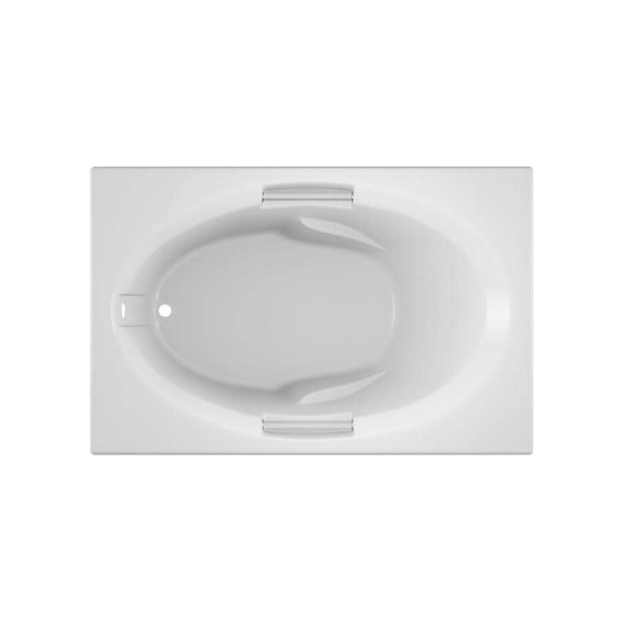 Jacuzzi Nova 60-in White Acrylic Bathtub with Reversible Drain