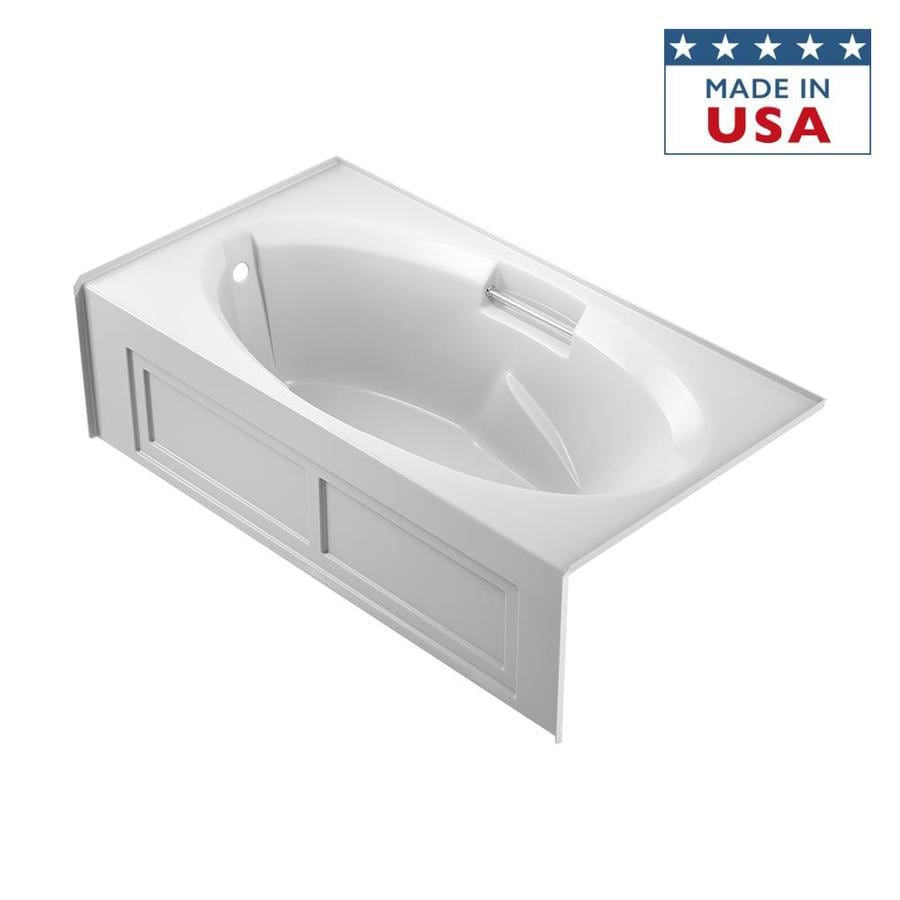 Jacuzzi Nova 72-in White Acrylic Alcove Bathtub with Left-Hand Drain