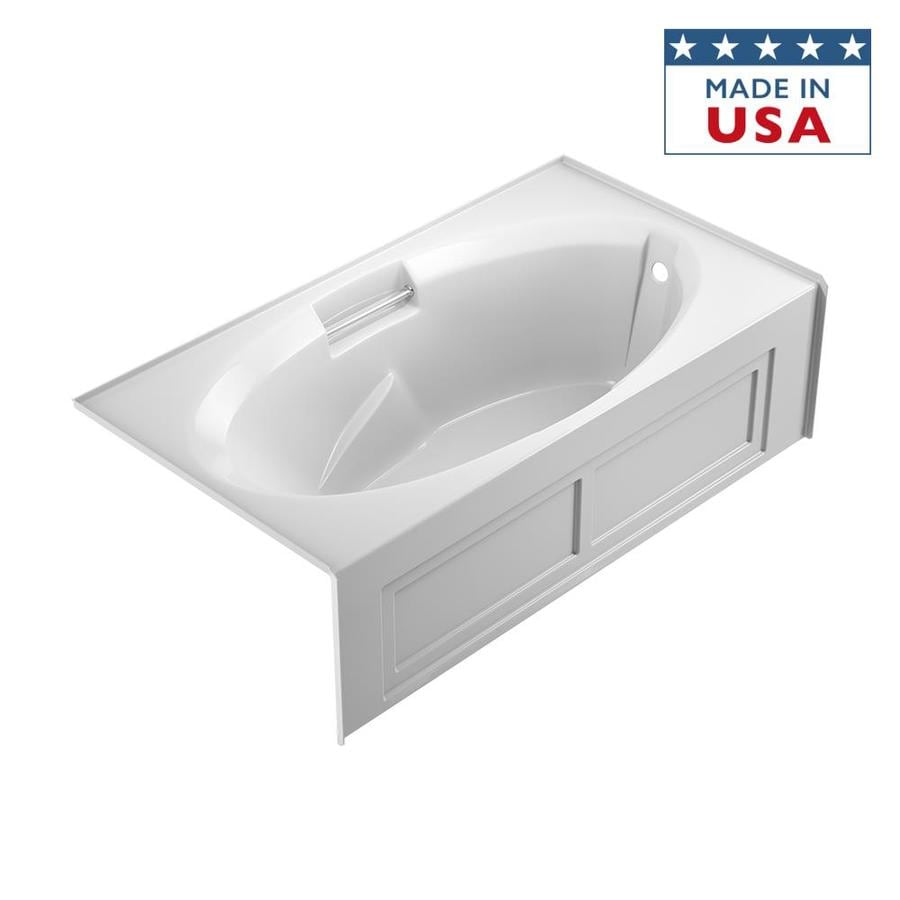 Jacuzzi Nova 72-in White Acrylic Alcove Bathtub with Right-Hand Drain