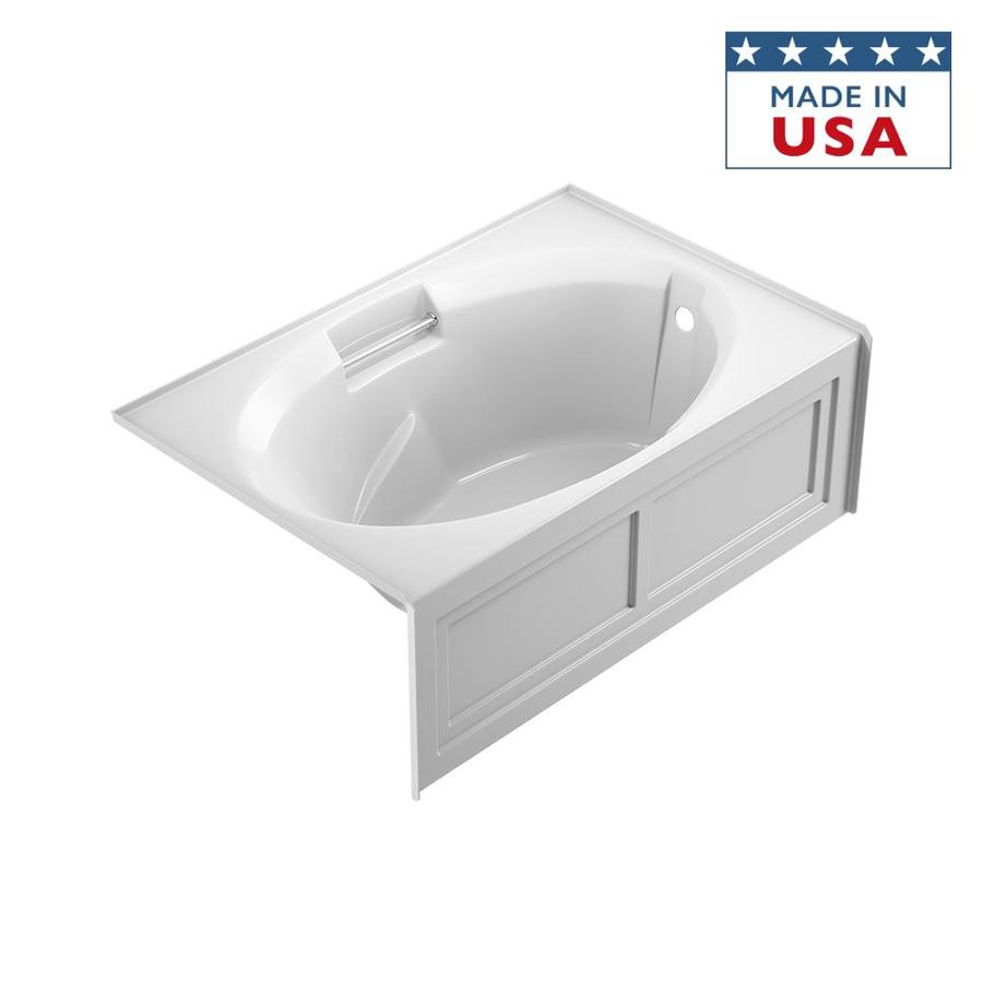Jacuzzi Nova White Acrylic Oval In Rectangle Skirted Bathtub with Right-Hand Drain (Common: 36-in x 60-in; Actual: 19.25-in x 36-in x 60-in)