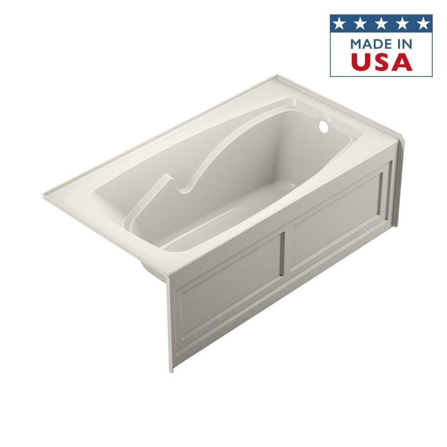 Jacuzzi Cetra Acrylic Rectangular Skirted Bathtub with Right-Hand Drain (Common: 32-in x 60-in; Actual: 20.5-in x 32-in x 60-in)