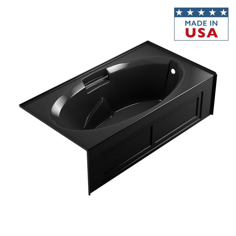 Jacuzzi Nova 72-in Black Acrylic Alcove Bathtub with Right-Hand Drain