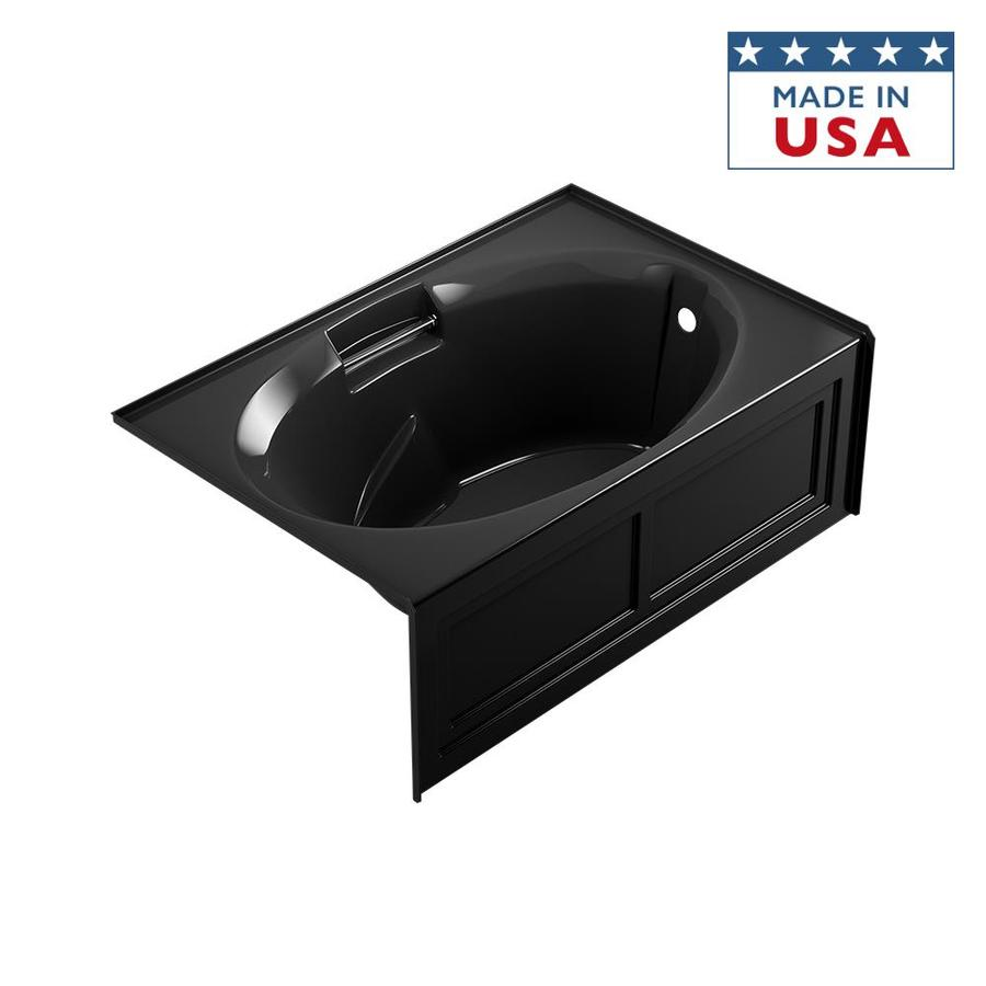 Jacuzzi Nova 60-in Black Acrylic Alcove Bathtub with Right-Hand Drain