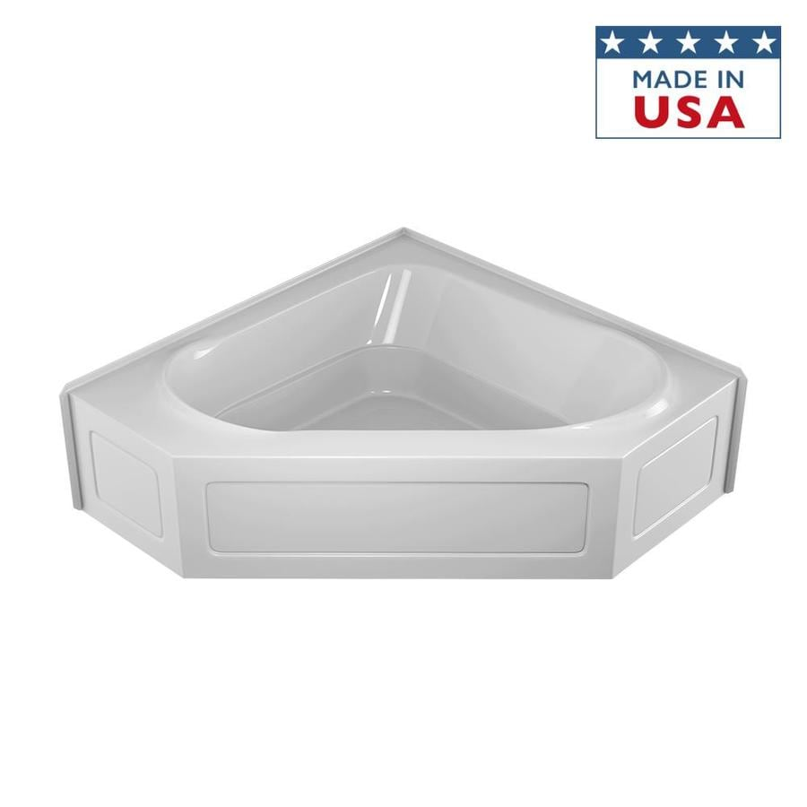 shop jacuzzi capella 60 in white acrylic alcove bathtub
