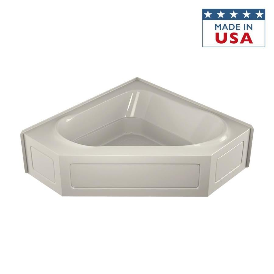 Jacuzzi Capella 60-in Oyster Acrylic Alcove Bathtub with Center Drain