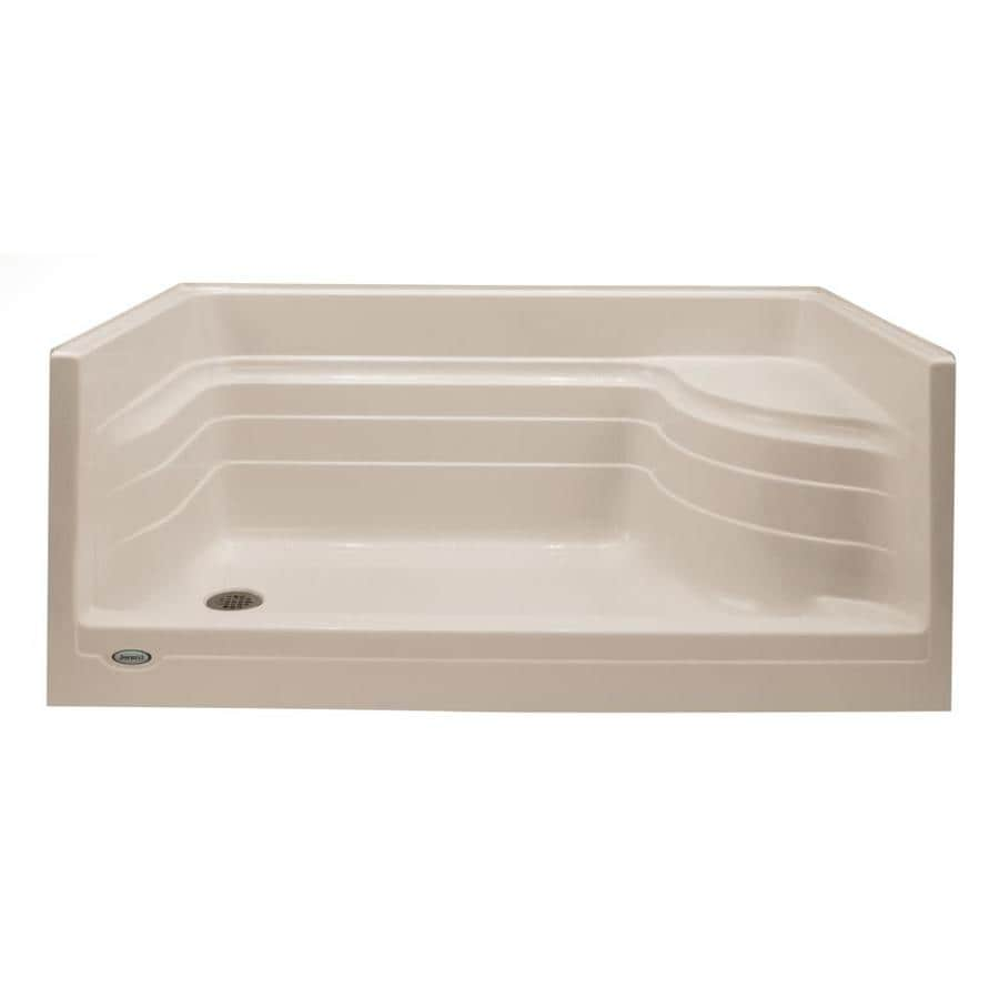 Jacuzzi Bonaire Almond Acrylic Shower Base (Common: 32-in W x 60-in L; Actual: 32-in W x 60-in L)