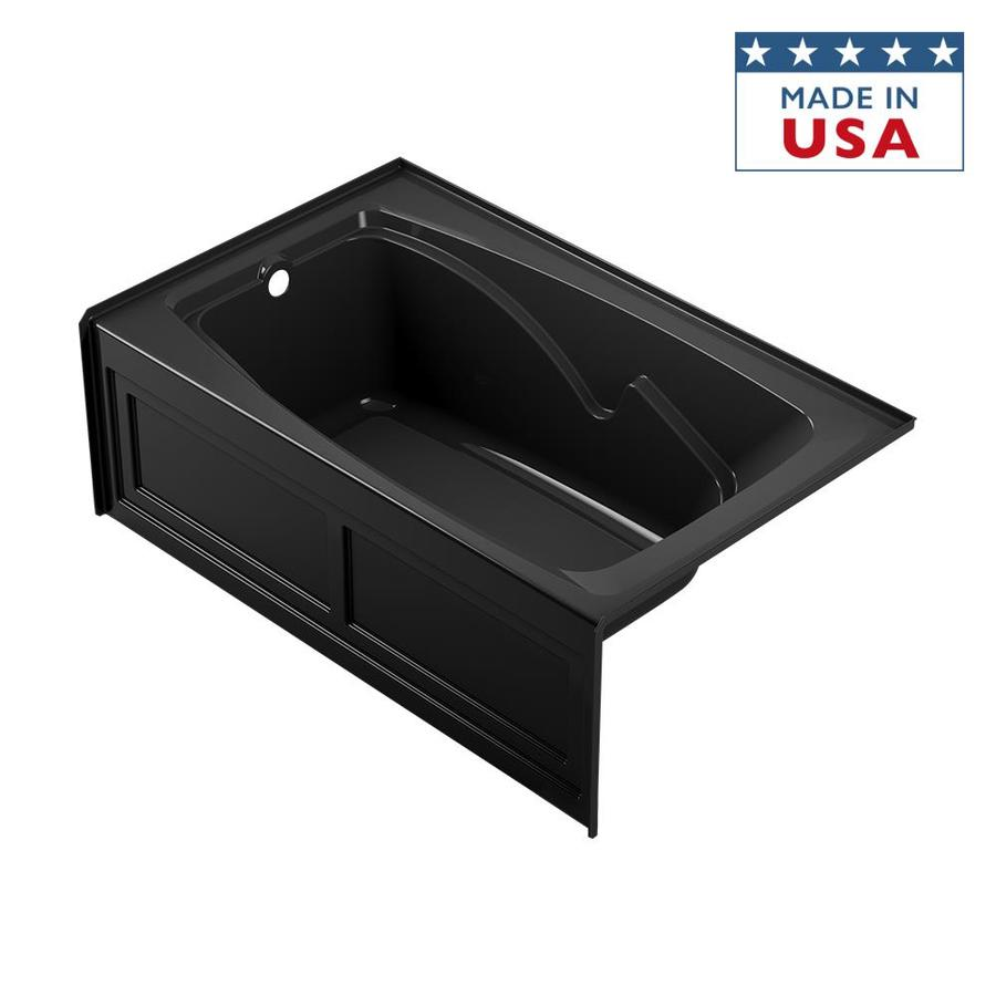 Jacuzzi Cetra Acrylic Rectangular Skirted Bathtub with Left-Hand Drain (Common: 36-in x 60-in; Actual: 21.25-in x 36-in x 60-in)