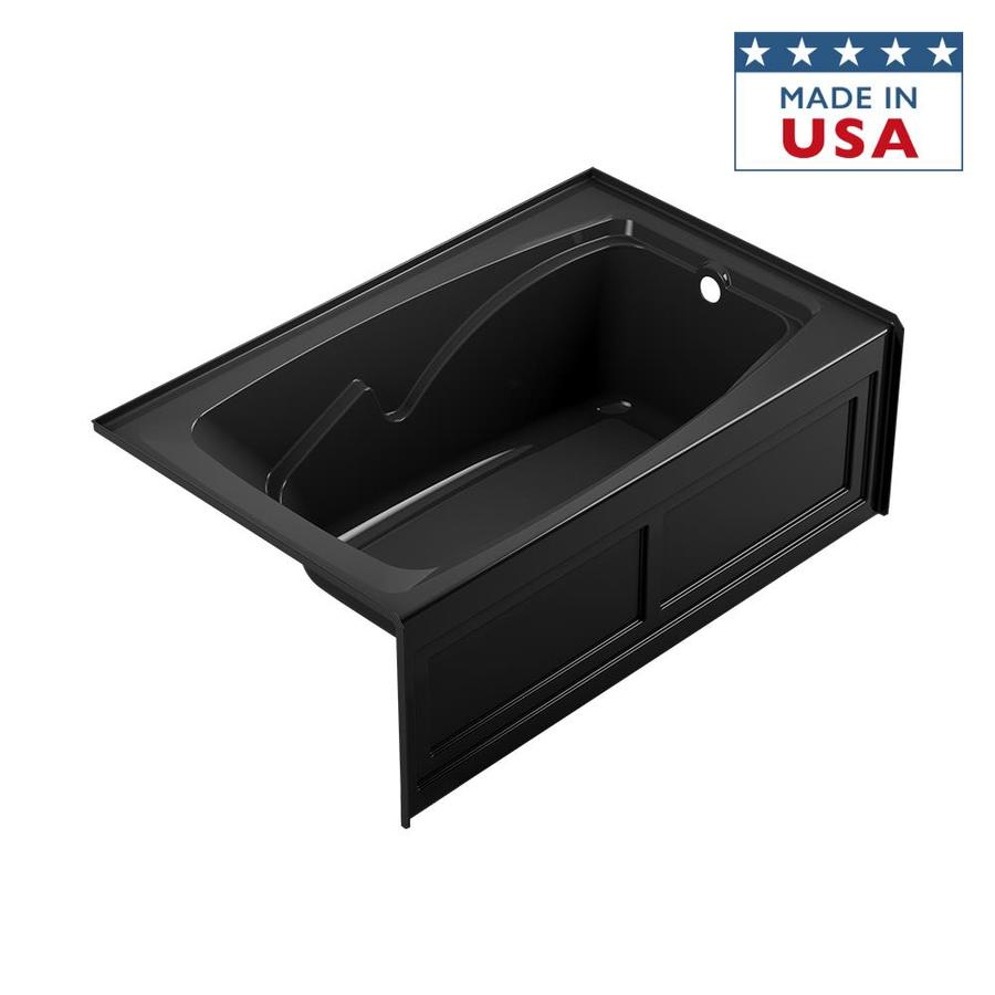 Jacuzzi Cetra Acrylic Rectangular Drop-in Bathtub with Right-Hand Drain (Common: 36-in x 60-in; Actual: 21.25-in x 36-in x 60-in)