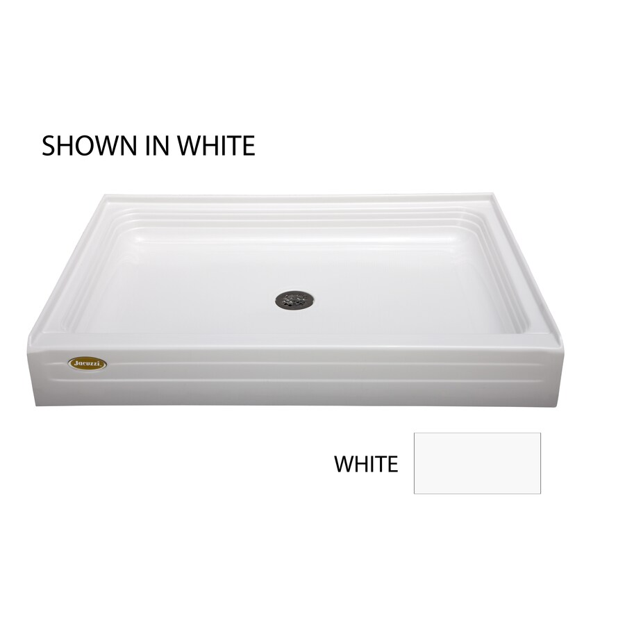 Delicieux Jacuzzi Cayman White Acrylic Shower Base (Common: 48 In X 42 In