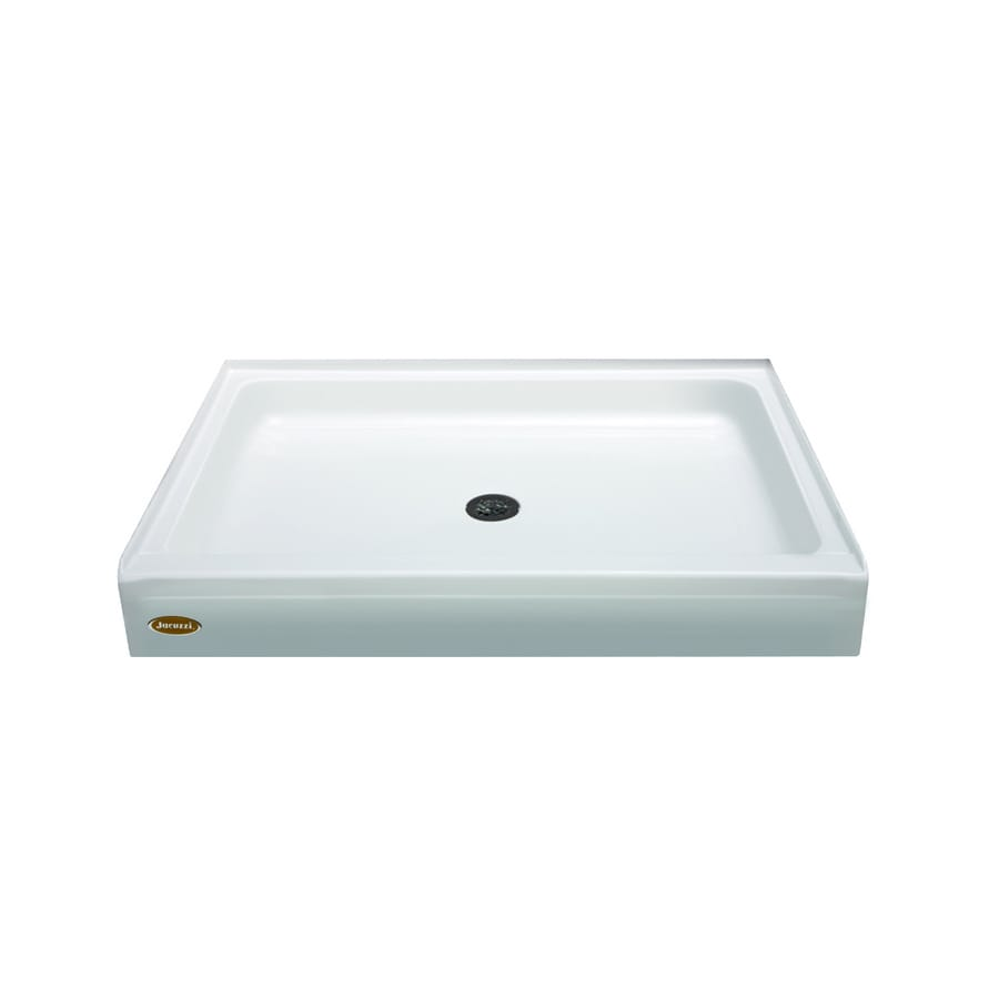 Jacuzzi Cayman White Acrylic Shower Base (Common: 32 In W X 48