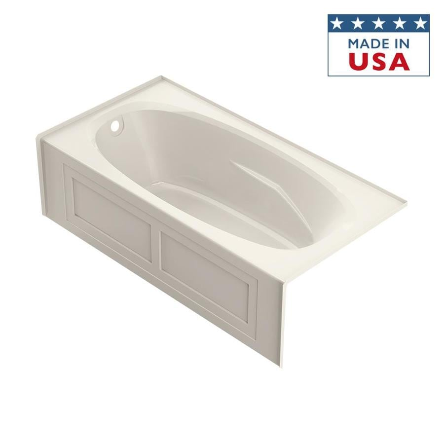 Jacuzzi Amiga 72-in Oyster Acrylic Alcove Bathtub with Left-Hand Drain