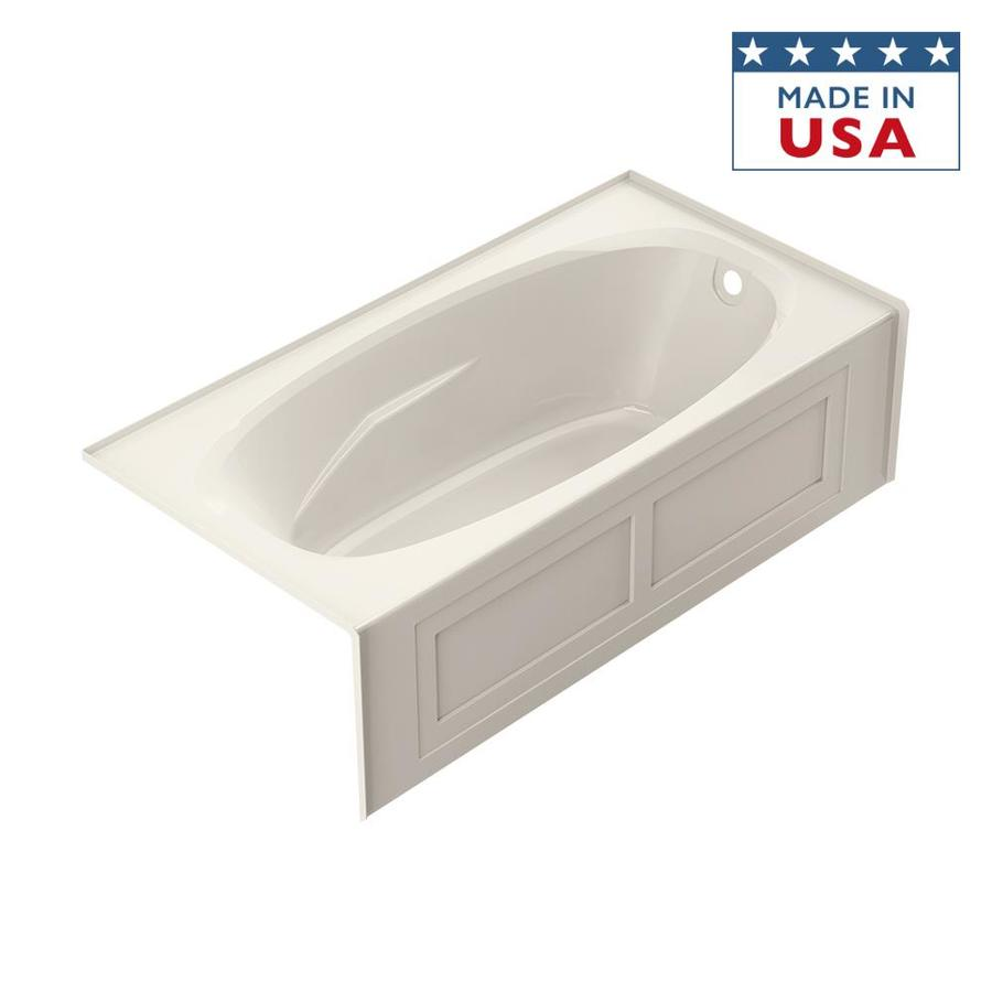 Jacuzzi Amiga Acrylic Oval In Rectangle Skirted Bathtub with Right-Hand Drain (Common: 36-in x 72-in; Actual: 20.75-in x 36-in x 72-in)