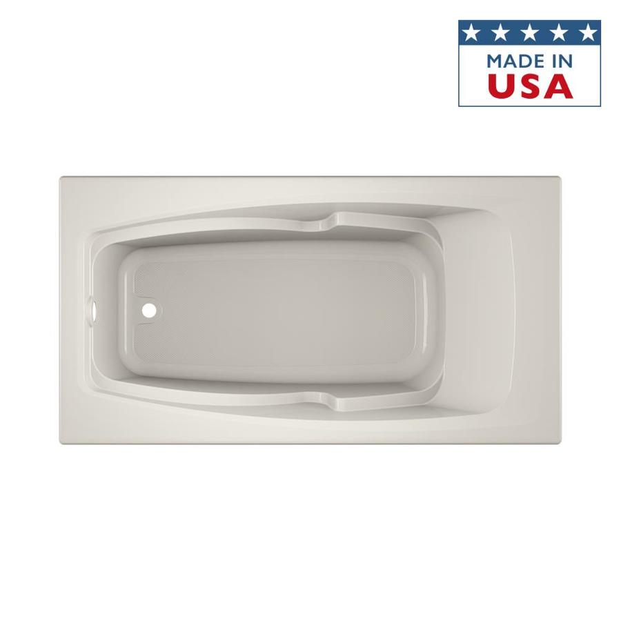 Jacuzzi Cetra Acrylic Rectangular Drop-in Bathtub with Reversible Drain (Common: 32-in x 60-in; Actual: 21.25-in x 32-in x 60-in)