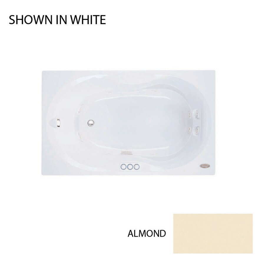 Jacuzzi Acrylic Hourglass Whirlpool Tub (Common: 36-in x 60-in; Actual: 20-in x 36-in x 60-in)