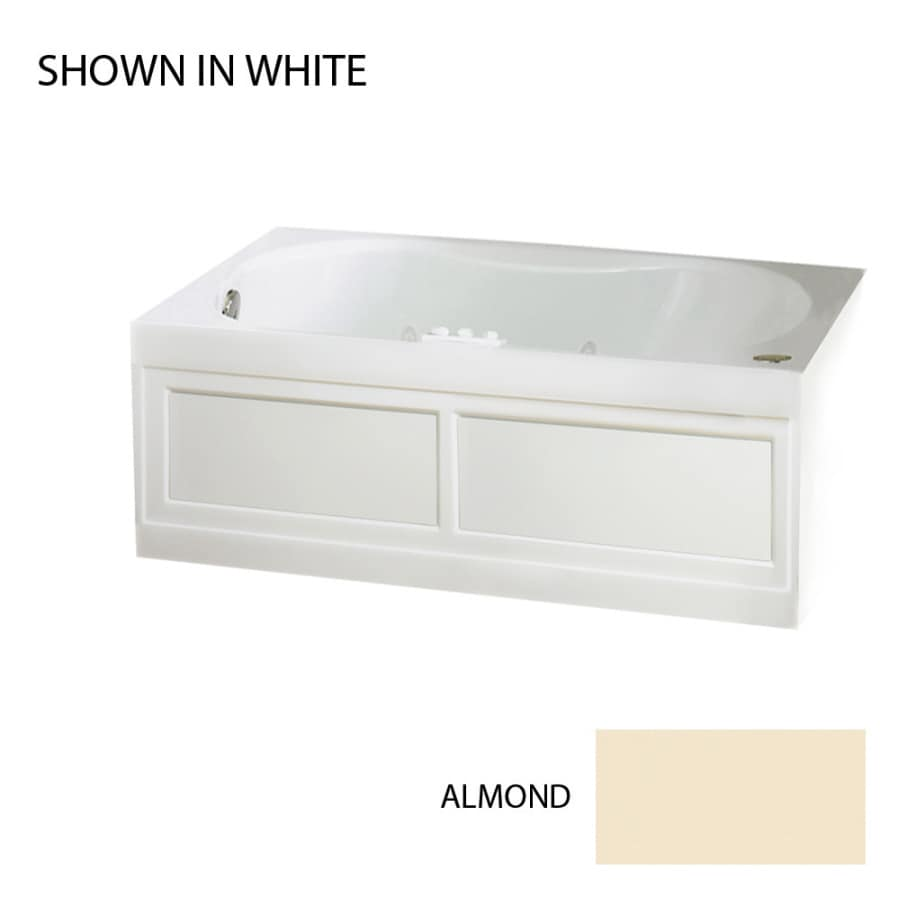 Jacuzzi Acrylic Hourglass Whirlpool Tub (Common: 42-in x 60-in; Actual: 20-in x 42-in x 60-in)
