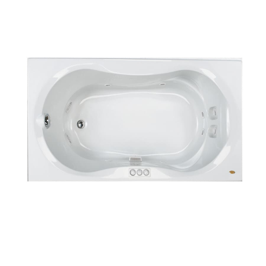 Jacuzzi Acrylic Hourglass Whirlpool Tub (Common: 42-in x 72-in; Actual: 20-in x 42-in x 72-in)