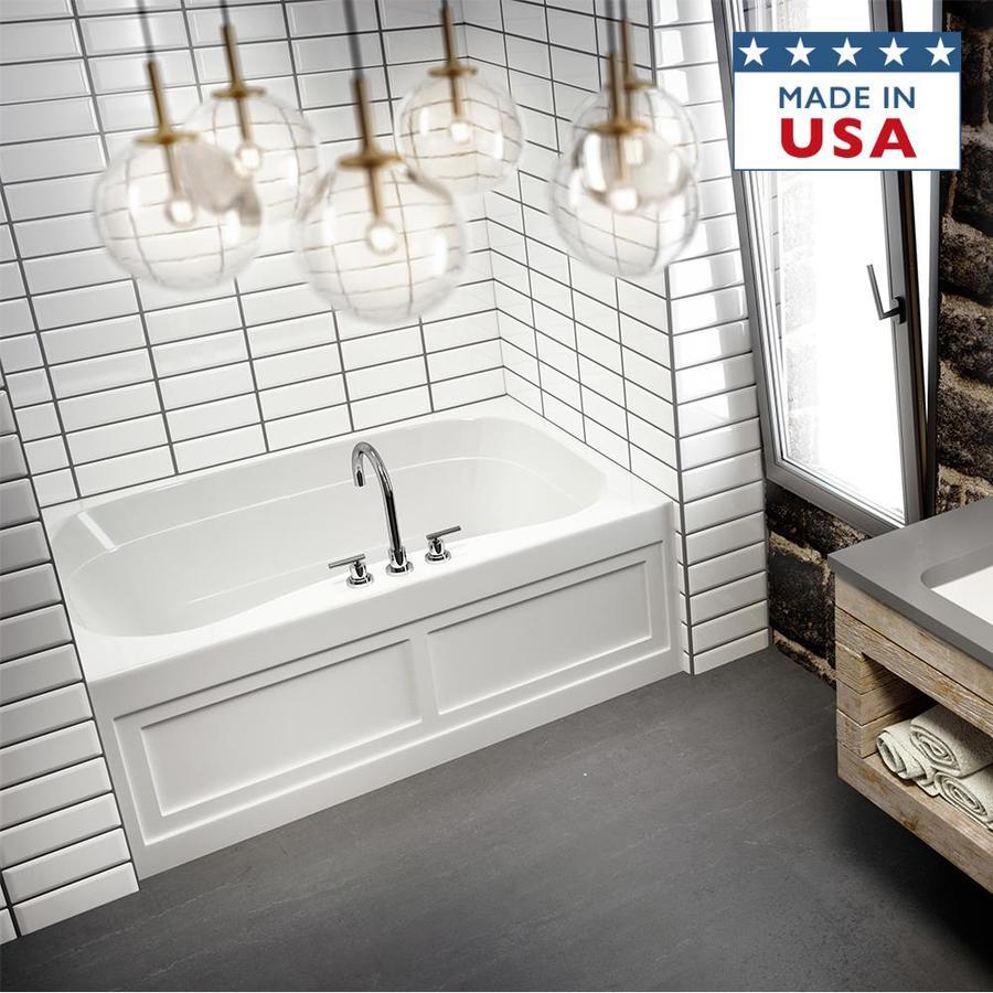 Jacuzzi Signa 60-in White Acrylic Bathtub with Center Drain