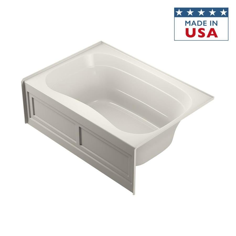 Jacuzzi Signa 60-in Oyster Acrylic Bathtub with Center Drain