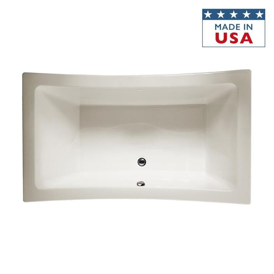 Jacuzzi Allusion 72-in Oyster Acrylic Bathtub with Center Drain