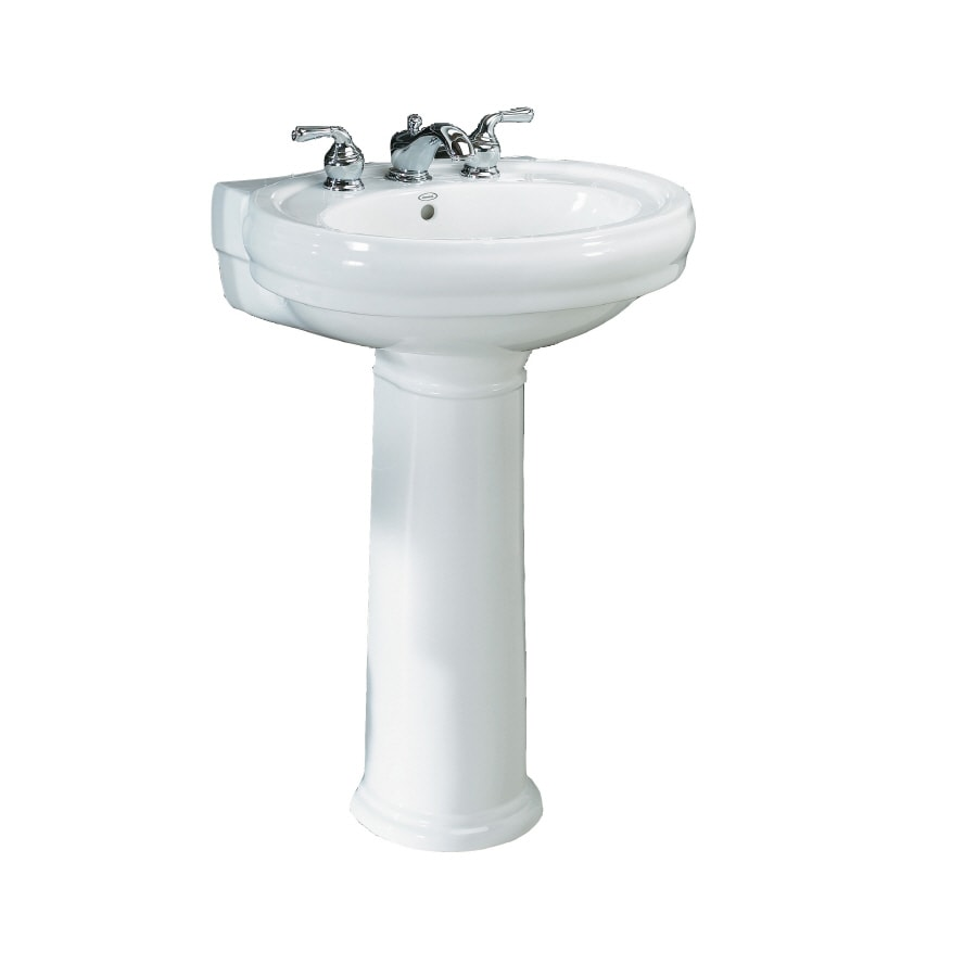 lowes bathroom sinks pedestal shop pedestal sink at lowes 19340