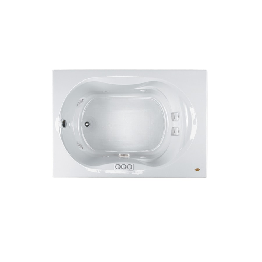 Jacuzzi Espree White Acrylic Hourglass Whirlpool Tub (Common: 42-in x 60-in; Actual: 20-in x 42-in x 60-in)