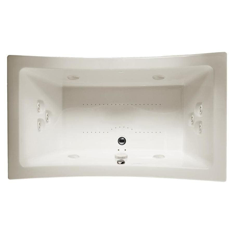 Jacuzzi Allusion 72-in Oyster Acrylic Drop-In Whirlpool Tub and Air Bath with Center Drain