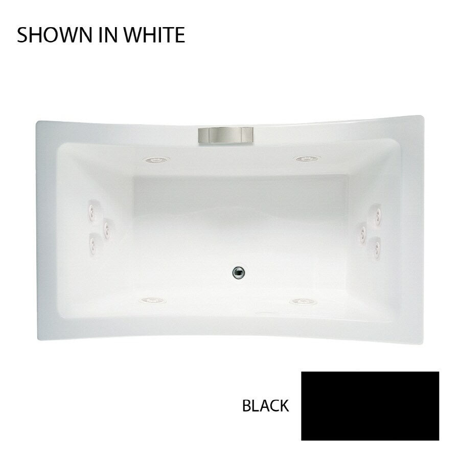 Jacuzzi Allusion 72-in Black Acrylic Drop-In Whirlpool Tub with Front Center Drain