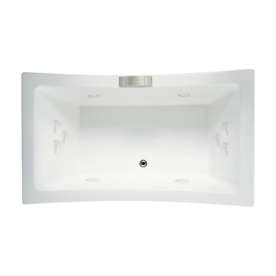 Jacuzzi Allusion 2-Person White Acrylic Rectangular Whirlpool Tub (Common: 36-in x 66-in; Actual: 26-in x 36-in x 66-in)