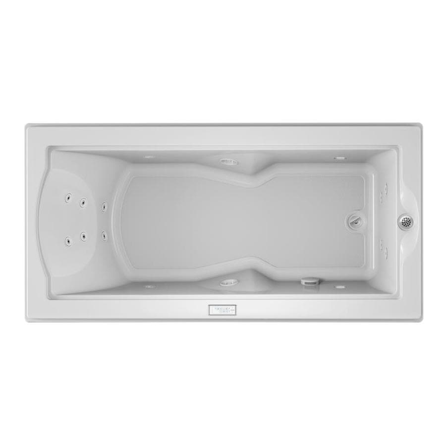 Jacuzzi Fuzion White Acrylic Rectangular Whirlpool Tub (Common: 36-in x 72-in; Actual: 24-in x 35.4-in x 70.7-in)
