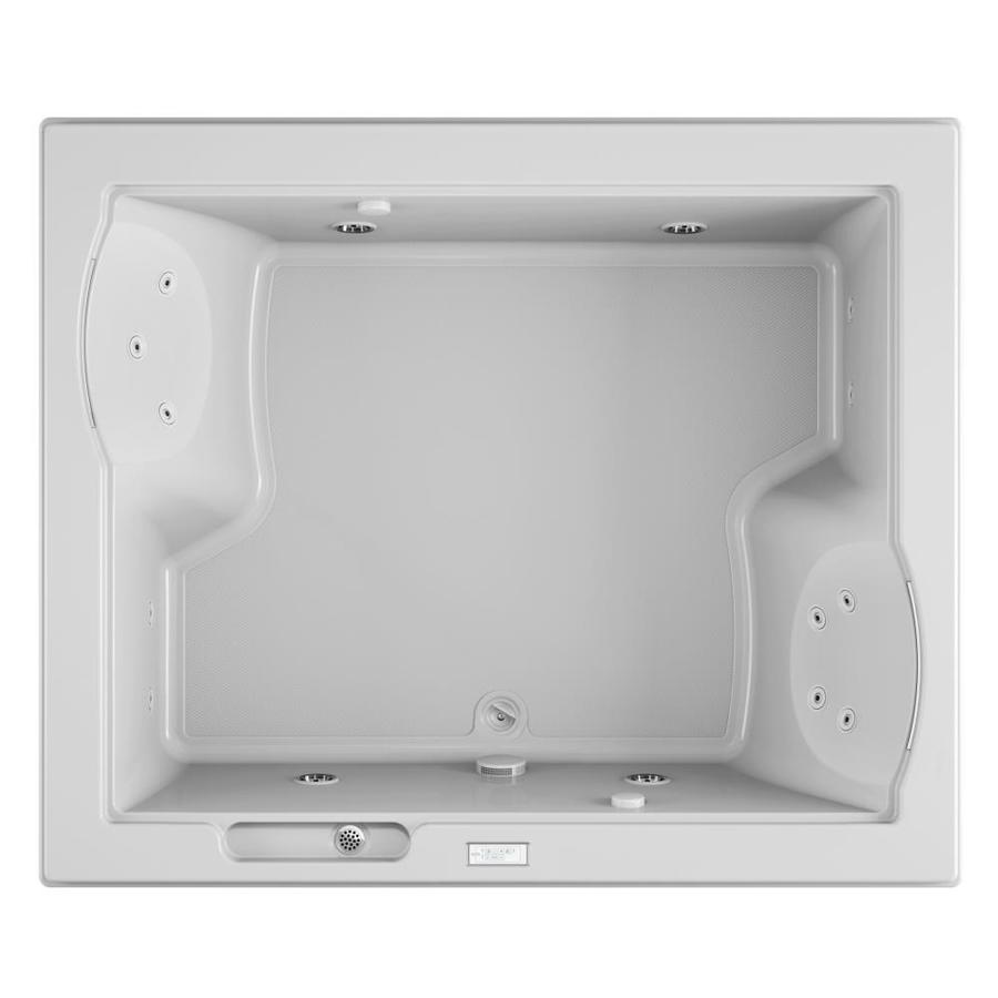 Jacuzzi Fuzion 71.75-in White Acrylic Drop-In Whirlpool Tub with Center Drain