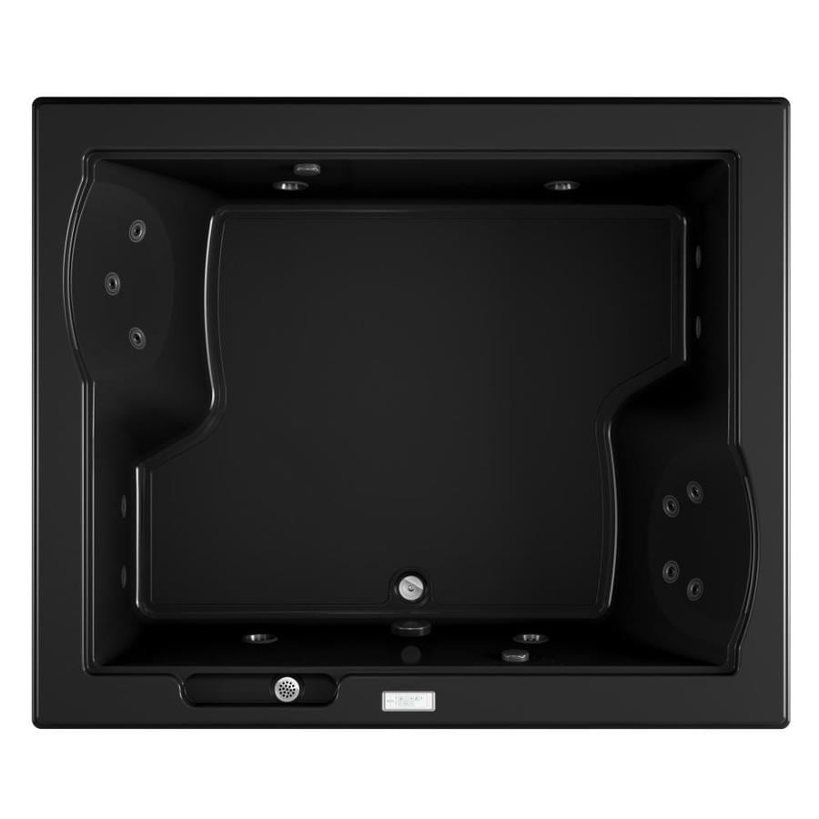 Jacuzzi Fuzion 71.75-in Black Acrylic Drop-In Whirlpool Tub with Center Drain