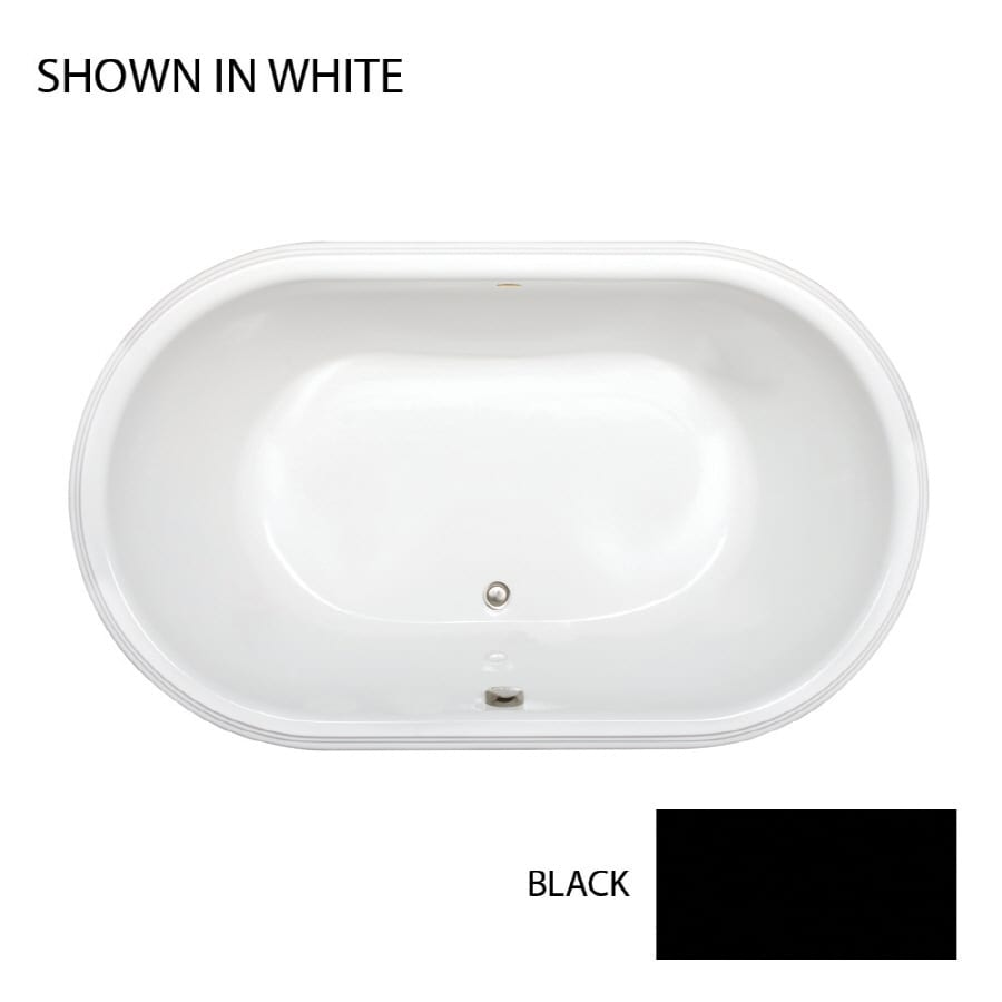 Jacuzzi Luna Black Acrylic Rectangular Drop-in Bathtub with Center Drain (Common: 42-in x 72-in; Actual: 23-in x 42-in x 72-in)