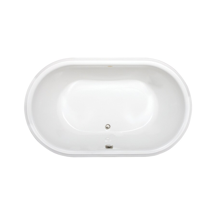Jacuzzi Luna White Acrylic Oval Drop-in Bathtub with Center Drain (Common: 42-in x 72-in; Actual: 23-in x 42-in x 72-in)