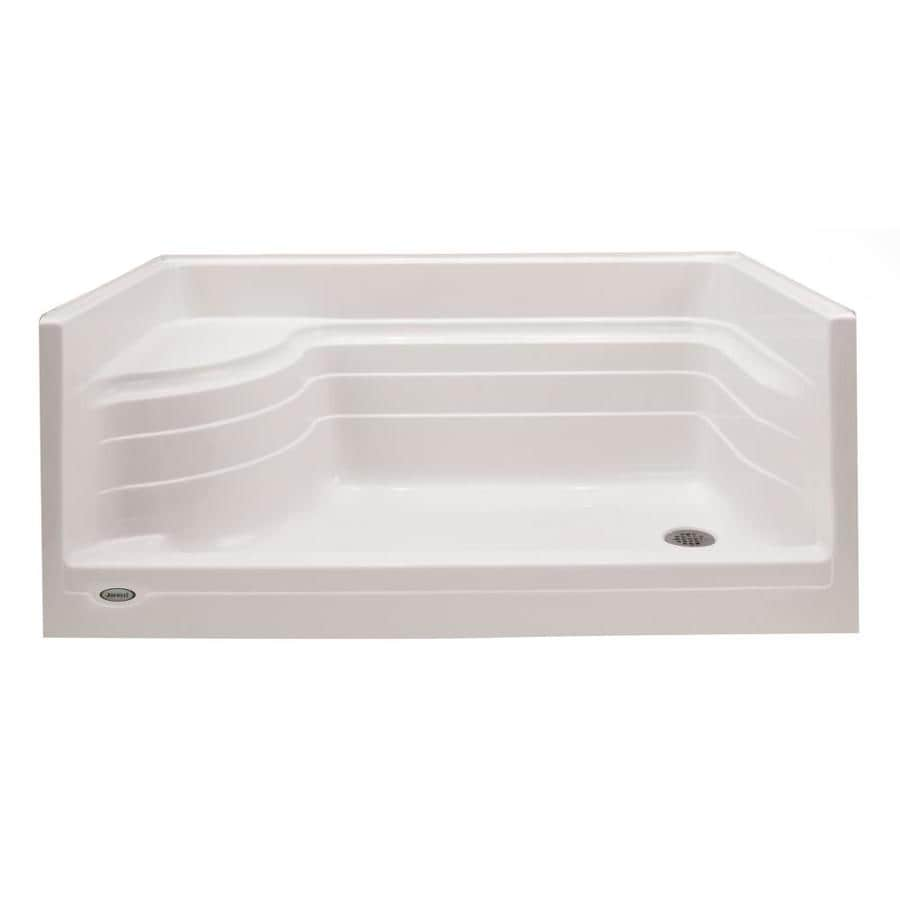 Shop Jacuzzi Bonaire White Acrylic Shower Base 36-in W x 72-in L ...